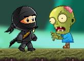 Игра Малыш ниндзя против зомби
