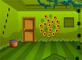 Игра Побег из зелёной натуральной комнаты