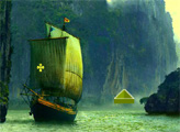Игра Побег с острова пиратов в День Благодарения