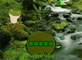 Игра Побег весёлого лягушонка из леса