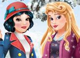 Игра Зимние наряды для Авроры и Белоснежки