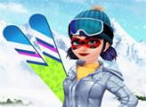 Игра Леди Баг и лыжный спорт