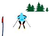 Игра На лыжи и вперёёёёёд!