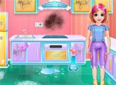 Игра Кухня Келли - Уборка и кулинария