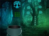 Игра Побег из ужасного леса в Хэллоуин