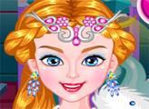 Игра Ледяная королева в парикмахерской