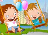 Игра Дети на качелях