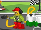 Игра Лего заправка на гонке