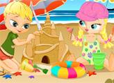 Игра Дети на пляже