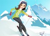 Игра Стильная лыжница