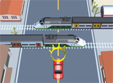 Игра Автомобиль против поездов