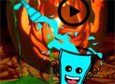 Игра Счастливый стакан на хэллоуин