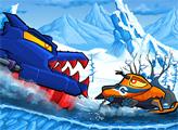 Игра Машина Ест Машину: Зимнее приключение