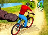 Игра Велогонщик в горах