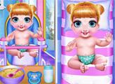 Игра Милые близнецы: Время купания