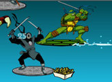 Игра Teenage Mutant Ninja Turtles: Sewer Surf ShowDown