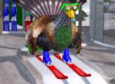 Игра Курица на лыжах
