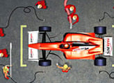 Игра Splash and Dash Park Pits Drive-in Car Services Formula 1