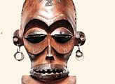 Игра Puzzle pieces African Mask